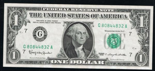 FR 1900-F* Atlanta 1963 $1 Federal Reserve Star Note